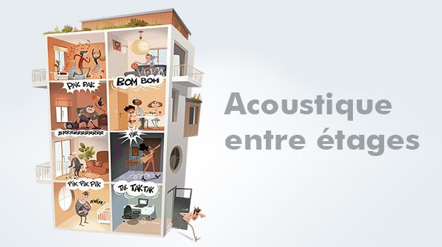 Principe de fonctionnement : isolation acoustique entre étages