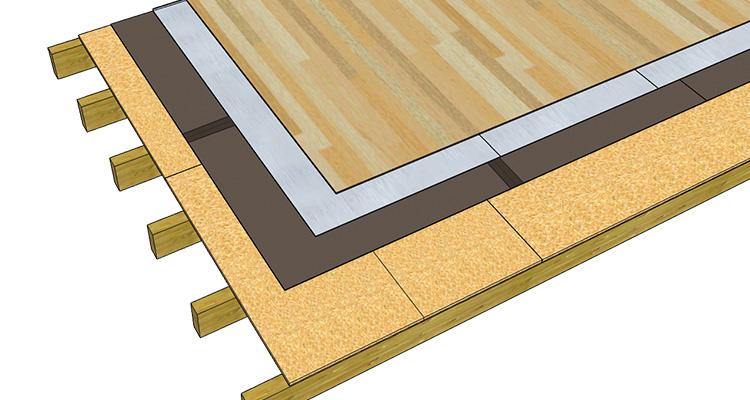 Masse lourde isolation acoustique dans un plancher bois