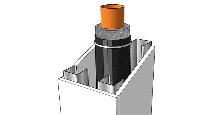 Masse lourde isolation acoustique autour de tuyaux, conduites