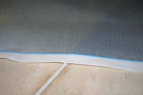 insulit Bi+9 membrane acoustique mince avec un recouvrement plat intégré