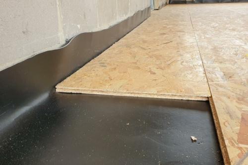 insulWood akoestische isolatie membraan voor houten vloeren tussen verdiepingen
